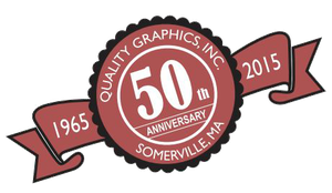 A 50 Years in Service Badge - Quality Graphics Inc. 50th Anniversary